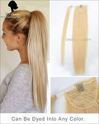 ponytail hair extensions high quality 613 white ponytail indian hair