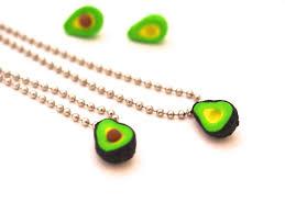 avocado friendship necklaces bff best friends necklace