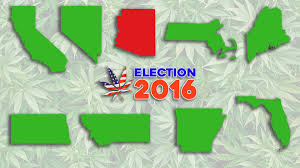 2016 Election Map Election 2016 Cannabis Legalization Results U2013 Emerge Law Group