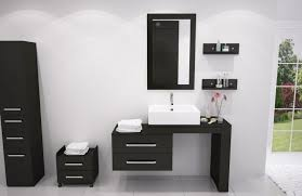 Rta Bathroom Cabinets Rta Bathroom Cabinets White Vanities Glossy Black Front Side Small