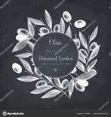 olive branch wreath template u2014 vetor de stock geraria 145187591