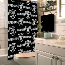 Nfl Shower Curtains Oakland Raiders Nfl Shower Curtain Oakland Raiders Gear