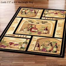 Wine Decorating Ideas For Kitchen by Wine Bottle Round Area Rug