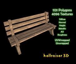 Model Bench 3d Model Bench Textured Cgtrader