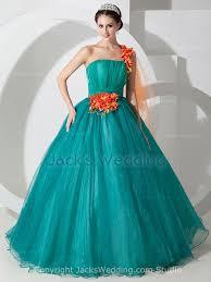 poofy wedding dresses flower organza poofy teal one shoulder gown wedding