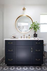 brass bathroom mirror black white marble and bronze see more marble inspirations at