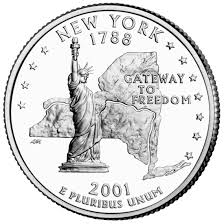 State Quarters Map by New York State Quarter U S Mint