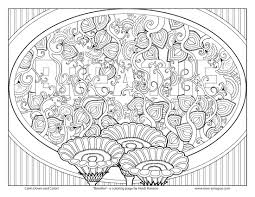 zen and antistress abstract pattern inspired coloring page free