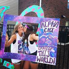 alpha chi omega out of this world bid day theme alpha chi