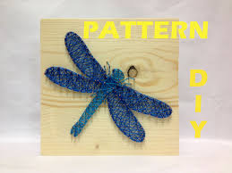 diy string art pattern dragonfly pattern and instructions how to