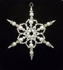 414 best snowflake images on beaded snowflake