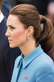 duchess catherine beauty kate middleton wears a ponytail