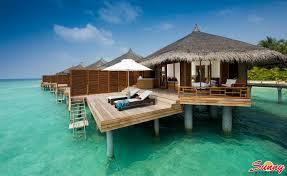 paradise island maldives water bungalows bungalow santa monica