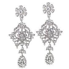 clip on earrings uk majestic clear diamante drop clip on earrings