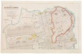 Map Of San Francisco by Sold 1906 Army Corps Of Engineers San Francisco Disaster Map