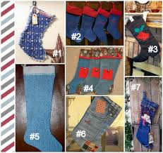 Homemade Christmas Stockings by Inventive Denim U2013 Christmas Stockings In Denim