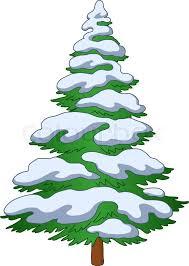 christmas tree with snow christmas tree with snow stock vector colourbox