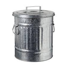 alinea poubelle cuisine 20 diam 31 cm poubelle zinc 30 l gris max les poubelles de