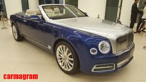 matte black bentley mulsanne ultra exclusive bentley grand convertible by mulliner unveiled