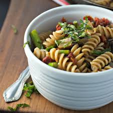 Simple Pasta Salad Recipe Sundried Tomato Pasta Salad With Asparagus And Portobello