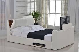 Tv Bed Frames 5ft Kingsize Ottoman Storage Tv Bed Ivory Leaders Beds