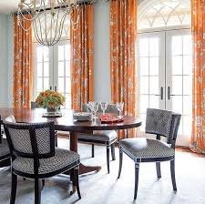 Dining Room Drapes Custom Tall Window Drapes Dining Room Traditional With French