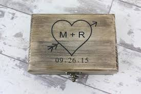 engraved keepsake box ring bearer box rustic wedding keepsake box engraved with your