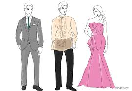 Formal Wedding Dresses Dress Codes For Filipino Weddings Barong Suit Gown