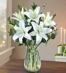 white lilly white bouquet garden florist