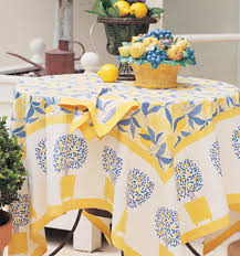 coated tablecloth from country to chic
