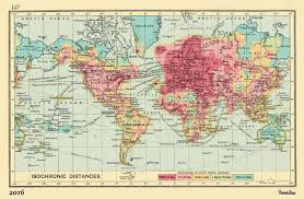 London On World Map by This Map Shows How Much The World Has Shrunk In The Last Century
