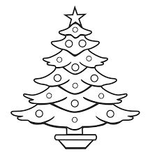 printable merry christmas xmas tree coloring pages for kids