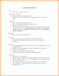 lab report conclusion template 7 lab report middle school ledger paper