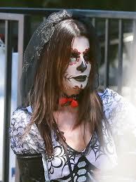 halloween costume mexican skeleton sandra bullock and her son louis sport spooky halloween costumes