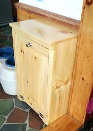 double wooden trash can holder trash can enclosures wood wood