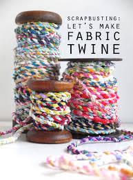 Handmade Fabric Crafts - scrapbusting handmade scrap fabric twine my poppet makes