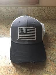 Usa Flag Hats American Flag Vintage Mesh Black Graphite White Cap Eagle Six Gear