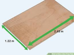 how long is a beer pong table 3 ways to make a beer pong table wikihow