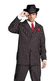 Halloween Costumes Addams Family Amazon Com Dreamgirl Men U0027s Gangsta Costume Clothing