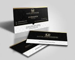 Magician Business Cards Upmarket Professional Logo Design For Magic And Mystery By