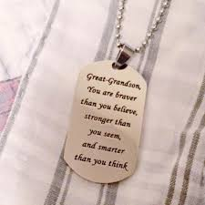 great necklace great grandson you are braver than you believe necklace