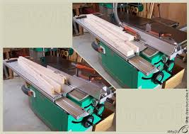 table saw power feeder sawdust paralleling on the table saw