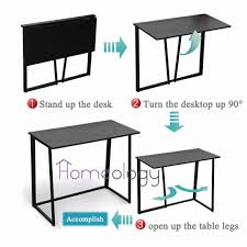 Pc Coffee Table Foldable Modern Study Computer Table Space Saving Office Study