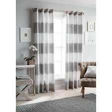 endearing beige and white striped curtains decor with white and