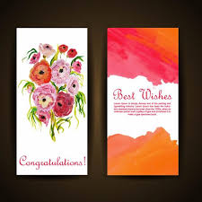 watercolor floral greeting card template free download on pngtree