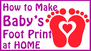 baby footprint ideas diy baby footprint ideas how to make baby footprints at home