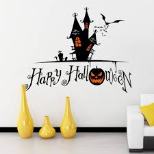 halloween castle shape diy wall stickers in wall stickers