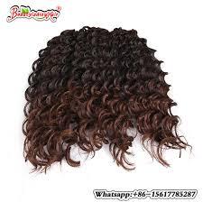 interlocking hair synthetic hair for braiding and twist crochet interlocking