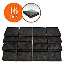 non slip 16 square furniture pads premium rubber felt furniture