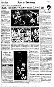 lions bears thanksgiving nov 27 1980 dave williams u0027 ot return chicago tribune